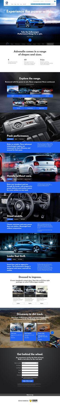 volkswagen web  ui design