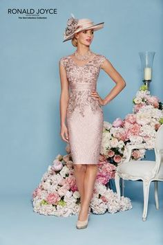 Ronald Joyce Dress & Jacket 991124, colour Blush/Taupe.