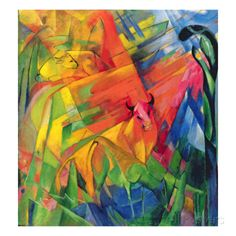 Animals in a Landscape, 1914 Giclee Print by Franz Marc at AllPosters.com