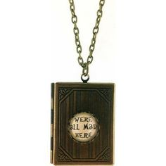 We're All Mad Here, Alice In Wonderland Book Locket Pendant: Amazon.co.uk: Jewellery
