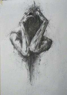 Sad Drawings, Dark Art Drawings, Pencil Art Drawings, Art Drawings Sketches, Drawing Faces, Artwork Drawings, Hipster Drawings, Anger Drawing, Drawing Feelings