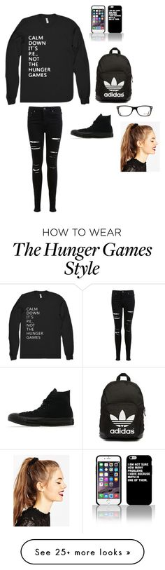 """Untitled"" by clairebear89 on Polyvore featuring Miss Selfridge, Converse, adidas Originals, Ray-Ban and ASOS"