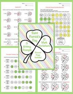Fifth Grade St. Patrick's Day Activities