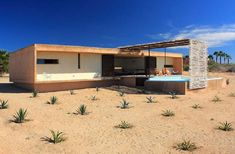 Gregori Residence and Beach House, located in Todos Santos in Baja, Mexico