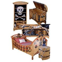 25 Amazing Boat Rooms For Kids | Real pirate ships, Pirate themed ...