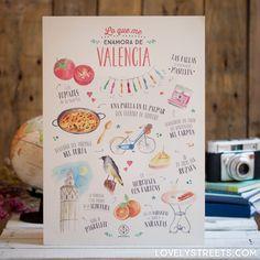 Lámina Lovely Streets - Lo que me enamora de Valencia