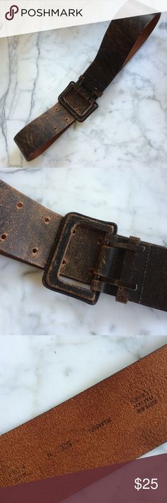 New brown leather belt Banana Republic Italy m L New. Distressed brown Italian leather. M fits L. Italy. Banana Republic Accessories Belts