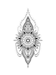 Lace and Mandala Tattoos - Over 70 models - Tattoos Ideas Tattoos Mandala, Boho Tattoos, Mandala Tattoo Design, Dream Tattoos, Small Tattoos, Girl Tattoos, Mandala Compass Tattoo, Tattoos Geometric, Henna Mandala