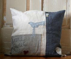 home sweet home pillow by Rebecca Sower, via Flickr