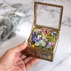 Ring box and centerpiece idea