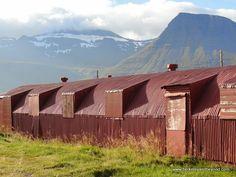 World War II barracks at Icelandic Wartime Museum in Reydarfjordur, Iceland