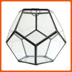 HomArt Pierre Faceted Glass Terrarium, Small, 1-Count - Lets plant (*Amazon Partner-Link)