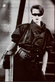 Best Fashion Look : Claude Montana Quirky Fashion, Punk Fashion, Retro Fashion, Vintage Fashion, Fashion Looks, Androgynous Fashion, Ying Gao, Montana, La Danse Macabre