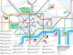 London's hidden gems revealed on the tube map.