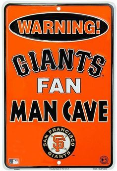San Francisco Giants MLB Fan Man Cave Parking Sign New #sfgiants #GalanEnterprises #SanFranciscoGiants