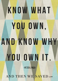"""Know what you own a"