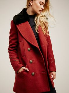 Sedgwick Peacoat at Free People Clothing Boutique