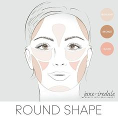 Beauty Tip: Here's how to apply your blush, bronzer & highlighter if you have a diamond face shape. Beauty Tip: Here's how to apply your blush, bronzer & highlighter if you have a diamond face shape. Eye Contouring, Contour Makeup, Contouring And Highlighting, Blush Makeup, Beauty Makeup, Eye Makeup, Contouring Round Face, Corrective Makeup, Face Beauty