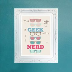 Some people call me a nerd and some call me a geek, but really I'm a bit of both! Includes a Photoshop tutorial.