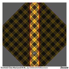 Scottish Clan MacLeod M Monogram Tartan Tie | Zazzle