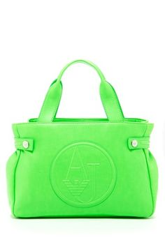 Armani Jeans Mini Tote on HauteLook - over 60% off and comes in 4 awesome neon colors!