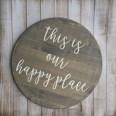 this is our happy place, this is our happy place sign, happy place sign, home sign, Wood Pallet Signs, Wood Pallets, Wooden Signs, Pallet Art, Home Signs, Diy Signs, Cabin Signs, Vinyl Crafts, Wood Crafts