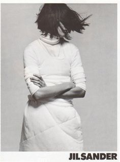 jil sander fall 1998 by david sims, via non sequitur