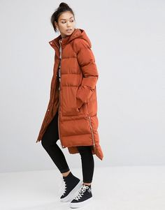 ASOS | ASOS Padded Coat with Step Hem