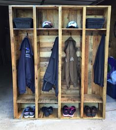 These set of 4 entryway lockers are 58x70x12 but can be made the size to fit