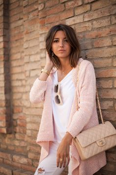 Adorable cardigan in powder pink  ) Love Fashion, Fashion Outfits, Womens  Fashion, d4a0c075b6e3