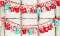 la decoración de mis mesas: DIY: Calendario de adviento con vasos de papel