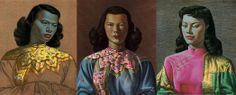 The Green Lady and her two accomplices painted by Vladimir Tretchikoff