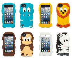 Animal Ipod 5 Cases | Griffin Kazoo Silicone Case for iPod Touch 5G – Elephant, Lion ...