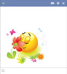 Spring emoticon for Facebook