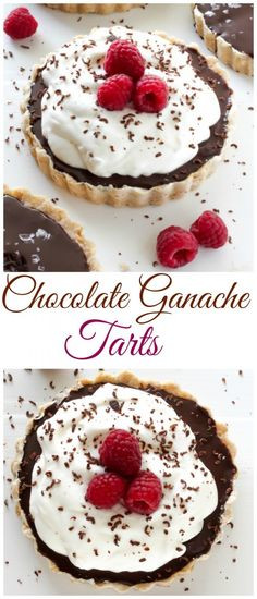 Chocolate Ganache Tarts - these are a chocolate lovers dream!