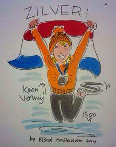 Koen Verweij zilver - Blond Amsterdam.