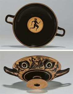 AN ATTIC BLACK-FIGURED EYE-CUP CIRCA 520-500 B.C.