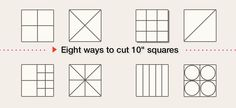 eight ways to use 10 inch precut fabric squares