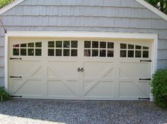 Double Garage Door That Looks Like Two Doors