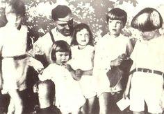 Claus Schenk Graf von Stauffenberg prior to his death with 5 of his 6 children.  Last child not born until after his executivion.