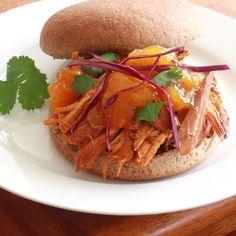 Pulled Mango Chicken Sandwiches 1
