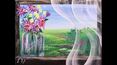 Summer Breeze Step by Step Acrylic Painting on Canvas for Beginners - YouTube