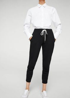 Baggy pants mit tunnelzug -  Damen | MANGO Deutschland