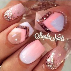 cool and cute pink nail art 2016 - style you 7