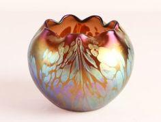 Loetz Austrian Glass Rose Bowl