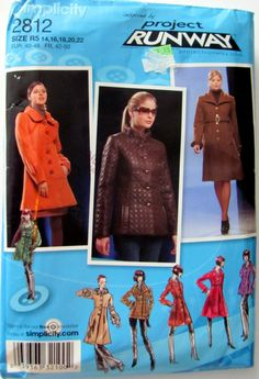 Simplicity 2812,  Ladies Plus Size Lined Coats and Jackets  Sewing Pattern,   Sizes 14, 16, 18, 20 and 22, Uncut by OnceUponAnHeirloom on Etsy