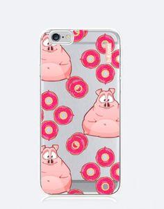 funda-movil-cerditos-donut-2 Phone Cases, See Through, Mobile Cases, Piglets, Phone Case