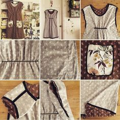 Dottie Angel showing the insides of one of her frocks including the elastic gathering. Simplicity pattern 1080