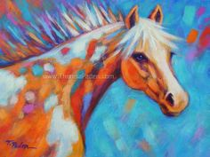 Equine Artists International - Contemporary Fine Art International: Contemporary Western Horse Painting by Theresa Paden