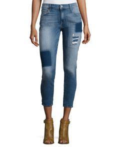 Wisdom Patchwork Skinny Ankle Jeans, Mariah - CJ by Cookie Johnson